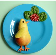 pájaro con frutas