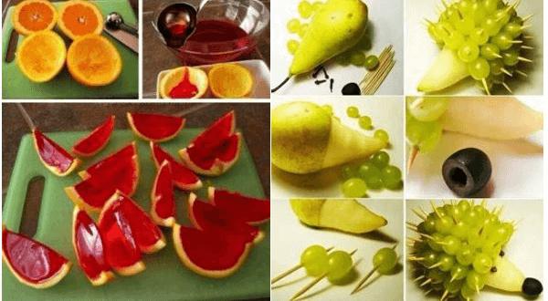 frutas con formas