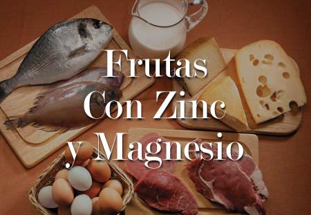 frutas con zinc y magnesio