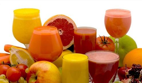 frutas con jugo