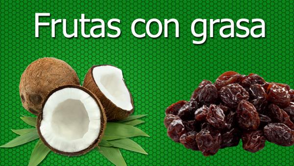 frutas con grasa