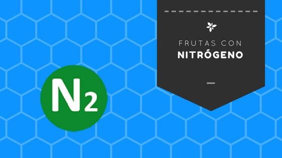 frutas con nitrógeno