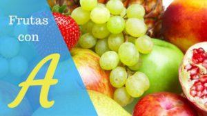 frutas con la letra a