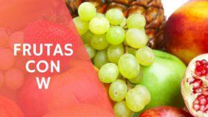 frutas con la letra w