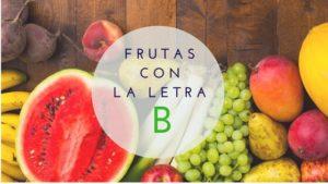 frutas con la letra b