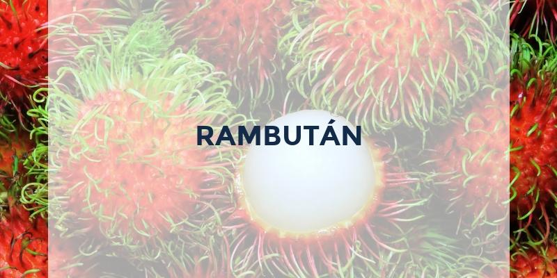 frutas que empiezan por r rambutan