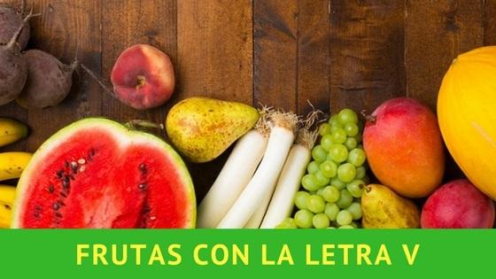 listado de frutas con la letra v