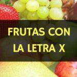 frutas con la letra x