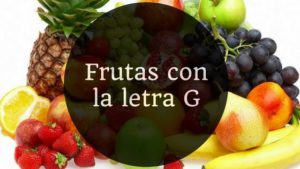 frutas con la letra g